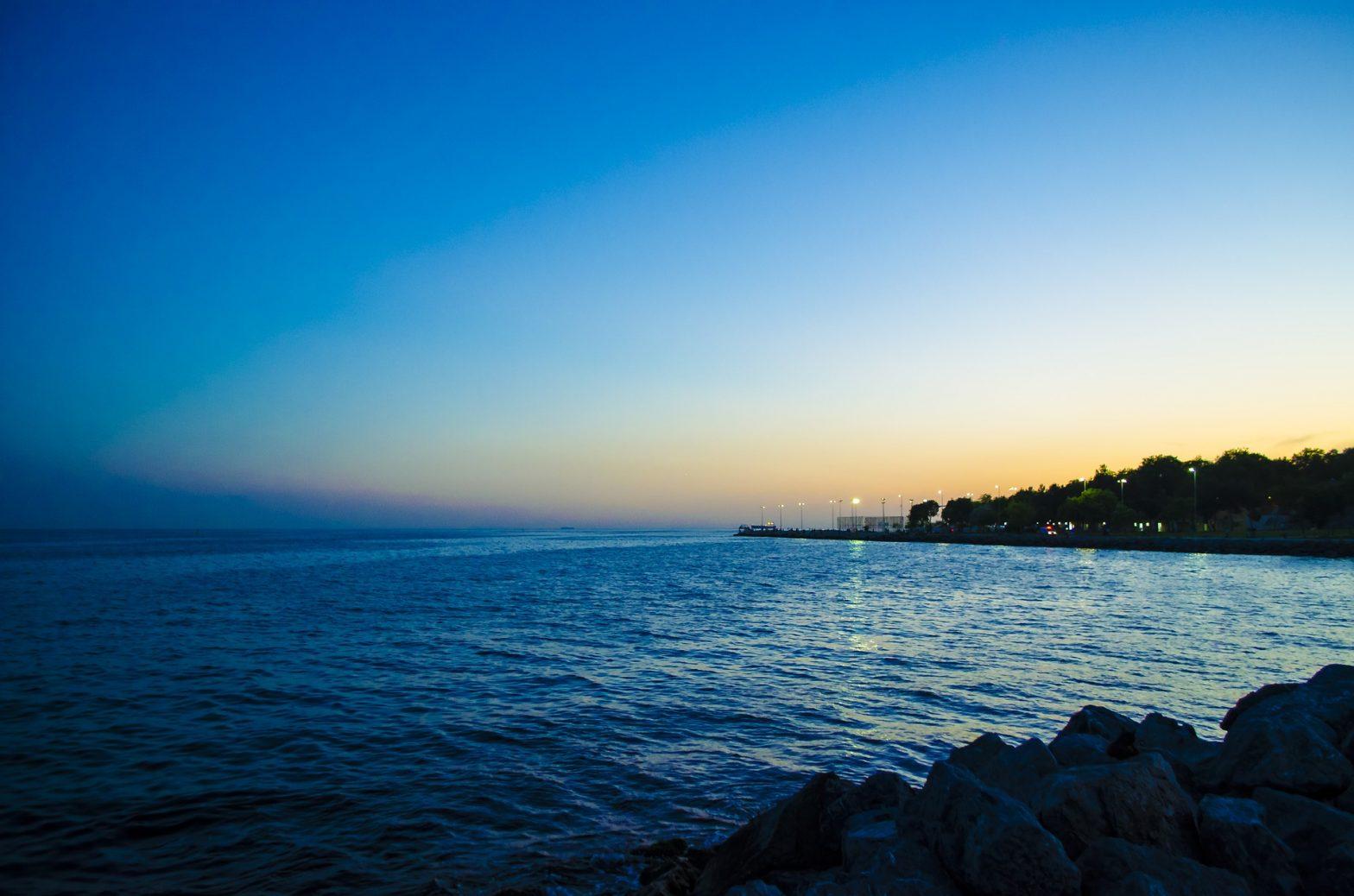 Isla Mujeres vista al atardecer