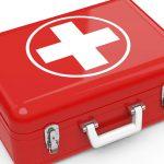 Botiquín de primeros auxilios rojo