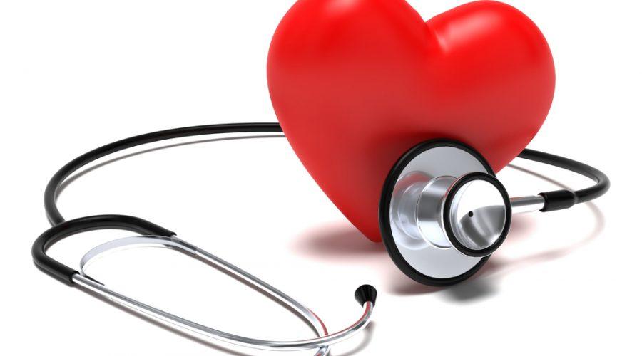 corazón monitoreado y sano